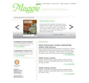 Uuden Maggie.fi -sivuston leiska.